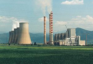 Planta de energía Agios en Grecia