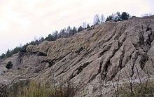 ladera erosionada por la lluvia
