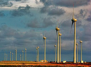 Turbinas eólicas en Parnaíba, Brasil